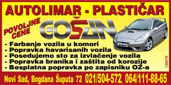 Autolimar, autolakirer, plastičar - Gošan - Novi Sad, Telep